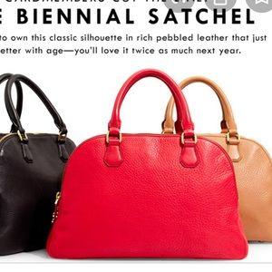 Red JCrew Biennial Satchel